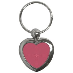 Stop Already Hipnotic Red Circle Key Chains (heart)  by Mariart