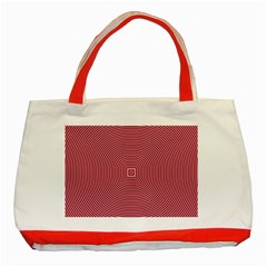 Stop Already Hipnotic Red Circle Classic Tote Bag (red) by Mariart