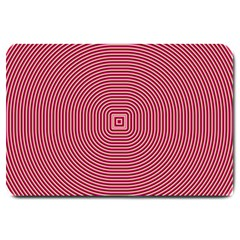 Stop Already Hipnotic Red Circle Large Doormat  by Mariart