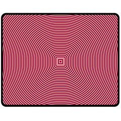 Stop Already Hipnotic Red Circle Fleece Blanket (medium)  by Mariart