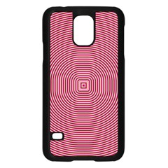 Stop Already Hipnotic Red Circle Samsung Galaxy S5 Case (black) by Mariart