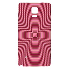 Stop Already Hipnotic Red Circle Galaxy Note 4 Back Case by Mariart