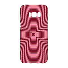 Stop Already Hipnotic Red Circle Samsung Galaxy S8 Hardshell Case  by Mariart