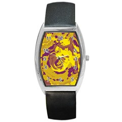 Abstract Art Barrel Style Metal Watch by ValentinaDesign