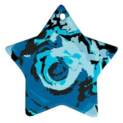 Abstract Art Star Ornament (two Sides) by ValentinaDesign