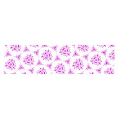 Sweet Doodle Pattern Pink Satin Scarf (oblong)