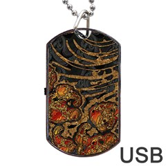 Unique Abstract Mix 1a Dog Tag Usb Flash (one Side) by MoreColorsinLife