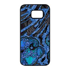 Unique Abstract Mix 1b Samsung Galaxy S7 Edge Black Seamless Case by MoreColorsinLife