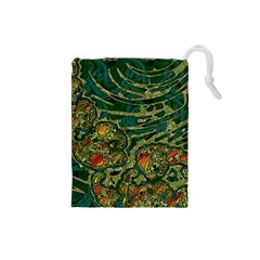 Unique Abstract Mix 1c Drawstring Pouches (small)  by MoreColorsinLife