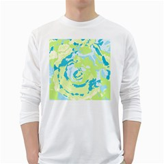 Abstract Art White Long Sleeve T Shirts