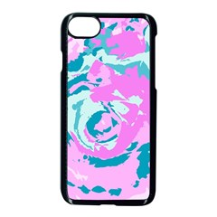 Abstract Art Apple Iphone 7 Seamless Case (black) by ValentinaDesign