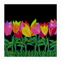 Tulips Medium Glasses Cloth (2 Side) by ValentinaDesign