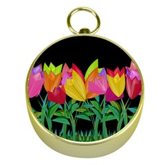Tulips Gold Compasses by ValentinaDesign