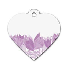 Tulips Dog Tag Heart (one Side) by ValentinaDesign