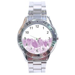Tulips Stainless Steel Analogue Watch by ValentinaDesign