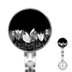 Tulips Stainless Steel Nurses Watch by ValentinaDesign