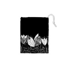 Tulips Drawstring Pouches (xs)  by ValentinaDesign