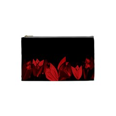 Tulips Cosmetic Bag (small)  by ValentinaDesign