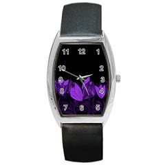 Tulips Barrel Style Metal Watch by ValentinaDesign
