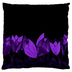 Tulips Large Cushion Case (two Sides) by ValentinaDesign