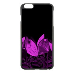 Tulips Apple Iphone 6 Plus/6s Plus Black Enamel Case by ValentinaDesign