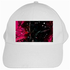 Abstract Design White Cap by ValentinaDesign