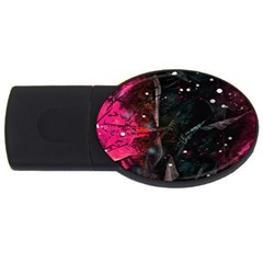 Abstract Design Usb Flash Drive Oval (4 Gb) by ValentinaDesign