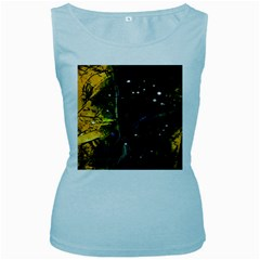 Abstract Design Women s Baby Blue Tank Top by ValentinaDesign