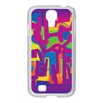 Abstract art Samsung GALAXY S4 I9500/ I9505 Case (White) Front