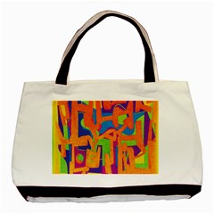 Abstract Art Basic Tote Bag by ValentinaDesign
