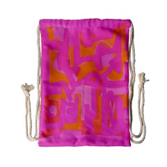 Abstract Art Drawstring Bag (small) by ValentinaDesign