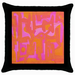 Abstract Art Throw Pillow Case (black) by ValentinaDesign
