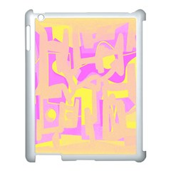 Abstract Art Apple Ipad 3/4 Case (white) by ValentinaDesign