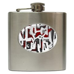 Abstract Art Hip Flask (6 Oz) by ValentinaDesign