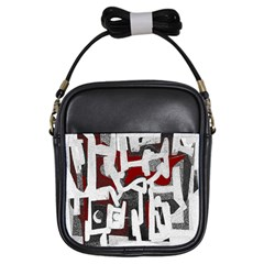 Abstract Art Girls Sling Bags by ValentinaDesign