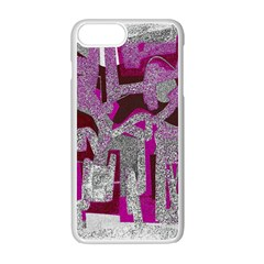 Abstract Art Apple Iphone 7 Plus White Seamless Case by ValentinaDesign
