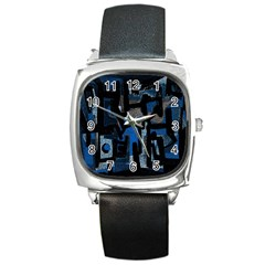 Abstract Art Square Metal Watch by ValentinaDesign