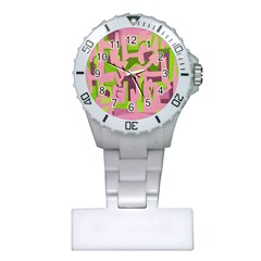 Abstract Art Plastic Nurses Watch by ValentinaDesign