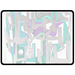 Abstract Art Double Sided Fleece Blanket (large)  by ValentinaDesign