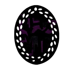 Abstract Art Ornament (oval Filigree) by ValentinaDesign