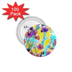 Floral Dreams 12 1 75  Buttons (100 Pack)