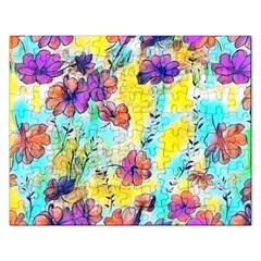 Floral Dreams 12 Rectangular Jigsaw Puzzl by MoreColorsinLife