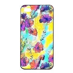 Floral Dreams 12 Apple Iphone 4/4s Seamless Case (black) by MoreColorsinLife