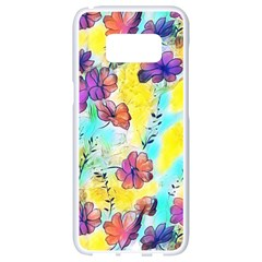 Floral Dreams 12 Samsung Galaxy S8 White Seamless Case by MoreColorsinLife