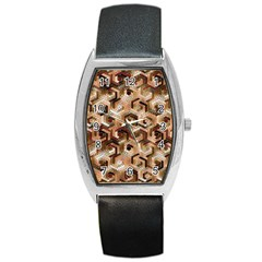 Pattern Factory 23 Brown Barrel Style Metal Watch by MoreColorsinLife