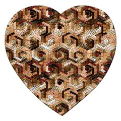 Pattern Factory 23 Brown Jigsaw Puzzle (heart) by MoreColorsinLife