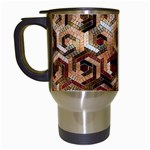 Pattern Factory 23 Brown Travel Mugs (White) Left