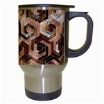 Pattern Factory 23 Brown Travel Mugs (White) Right
