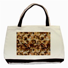 Pattern Factory 23 Brown Basic Tote Bag by MoreColorsinLife