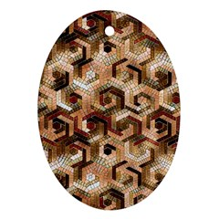 Pattern Factory 23 Brown Oval Ornament (two Sides) by MoreColorsinLife